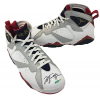Michael Jordan Signed Air Jordan Dream Team Olympic Basketball Shoes (UDA COA)