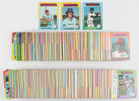 Complete Set of (660) 1975 Topps Baseball Cards with #223 Robin Yount RC, #228 George Brett RC, #500 Nolan Ryan, #660 Hank Aaron