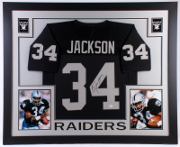 Bo Jackson Signed Raiders 35x43 Custom Framed Jersey (JSA COA) at PristineAuction.com