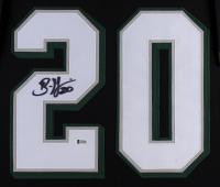 Brian Dawkins Signed Eagles 35x43 Custom Framed Jersey (Beckett COA) at PristineAuction.com