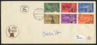 Abba Eban Signed 1955 Postmarked Envelope (JSA COA)