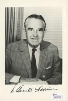 W. Averell Harriman Signed 4.75x7 Photo (JSA COA)