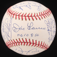 Perfect Game Pitchers OML Baseball Signed by (16) with Sandy Koufax, Jim Bunning, Randy Johnson, David Cone, Don Larsen (PSA LOA)