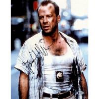Bruce Willis Signed Die Hard 11x14 Photo (Beckett COA)