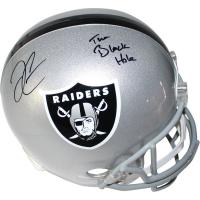 "Derek Carr Signed Raiders Full-Size Authentic Proline Helmet Inscribed ""The Black Hole"" (Steiner COA)"