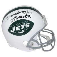 "Joe Namath Signed Jets Full Size Throwback Helmet Inscribed ""Broadway"" (Steiner COA)"