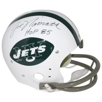 "Joe Namath Signed Jets Full Size Throwback Helmet Inscribed ""HOF 85"" (Steiner COA)"