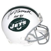 "Joe Namath Signed Jets Full Size Authentic Proline Throwback Helmet Inscribed ""HOF 85"" (Steiner COA)"
