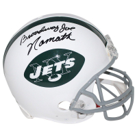 "Joe Namath Signed Jets Full Size Authentic Proline Throwback Helmet Inscribed ""Broadway"" (Steiner COA)"
