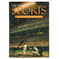 Eddie Mathews Signed 1954 Issue Sports Illustrated Magazine (JSA COA)
