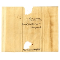 President James Monroe Signed Envelope (Beckett COA)