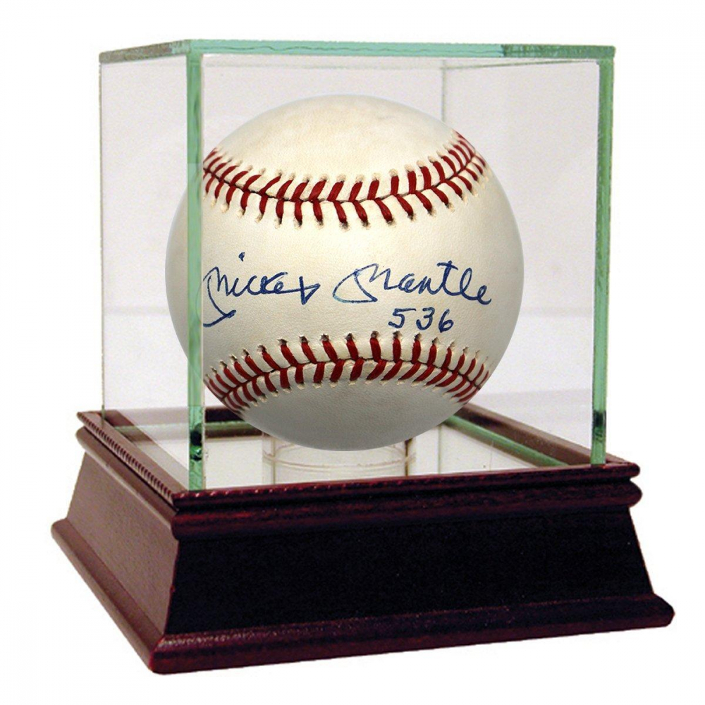 "Mickey Mantle Signed OAL Baseball Inscribed ""536"" (PSA Hologram) at PristineAuction.com"