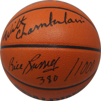 Wilt Chamberlain & Bill Russell Signed NBA Basketball (JSA COA)