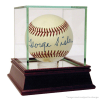 George Sisler Signed Hall of Fame Logo Baseball (JSA COA)