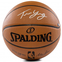 Trae Young Signed Official NBA Game Ball (Panini COA) at PristineAuction.com