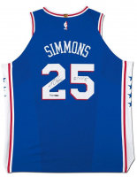 "Ben Simmons Signed Philadelphia 76ers Jersey Inscribed ""ROY 18"" (UDA COA) at PristineAuction.com"