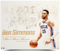 "Ben Simmons Signed Philadelphia 76ers ""NBA Royalty"" 20x24 Photo Inscribed ""ROY 18"" (UDA COA) at PristineAuction.com"