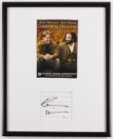 "Robin Williams Signed ""Good Will Hunting"" 11.75x15 Custom Framed Cut Display (JSA COA)"