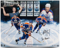 "Paul Coffey Signed Edmonton Oilers 16x20 Photo Inscribed ""3X Norris"" (UDA COA) at PristineAuction.com"