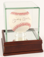 Mickey Mantle Signed OAL Baseball with Display Case (JSA ALOA)