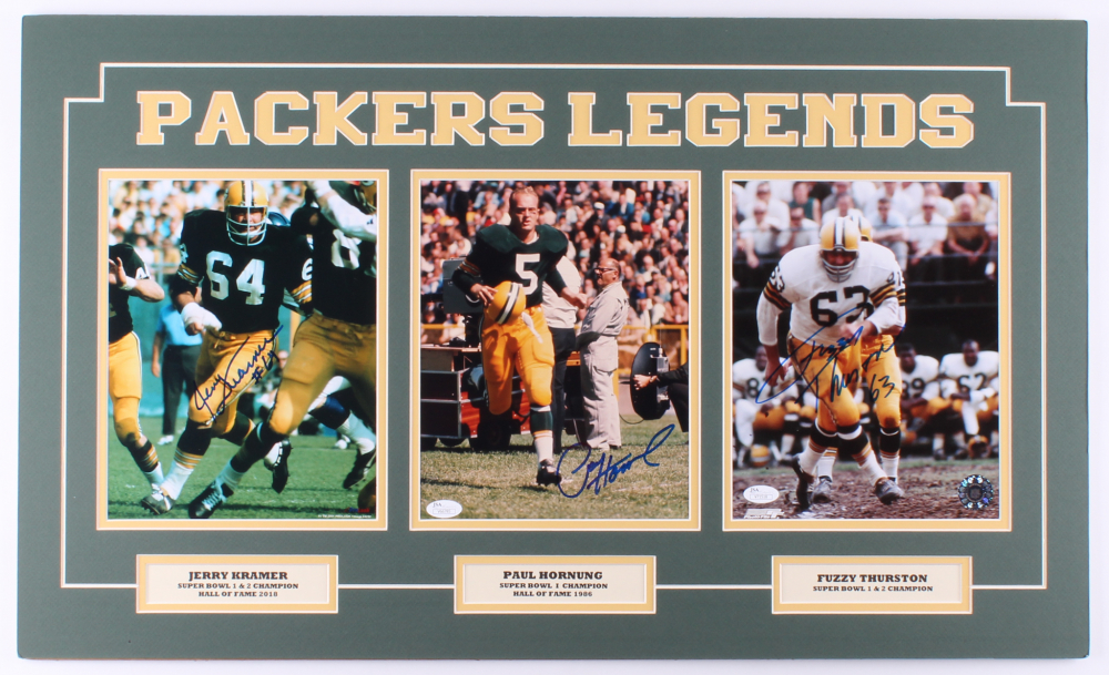 d033c7cc1642f Packers 18x30 Custom Matted Photo Display with (1) Jerry Kramer Signed  Photo (1