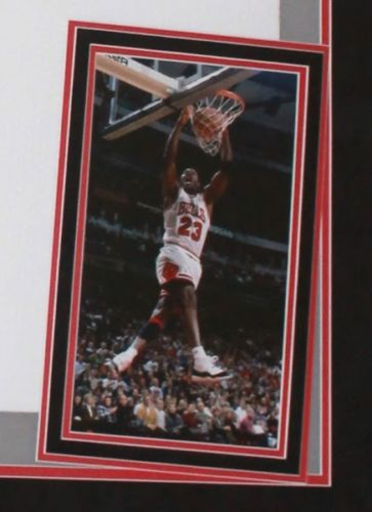 e3ec4d489 Michael Jordan Signed Bulls 36x44 Custom Framed Limited Edition Jersey  Display With