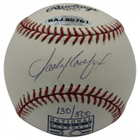 Sandy Koufax Signed LE Hall of Fame OML Baseball (UDA COA & MLB Hologram)