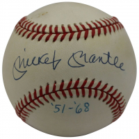 "Mickey Mantle Signed LE OAL Baseball Inscribed ""'51-'68"" (UDA COA)"