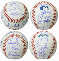 2016 Chicago Cubs World Series Champions OML Baseball Team-Signed by (23) with Joe Maddon, Theo Epstein, Ben Zobrist, Javier Baez (Schwartz Sports COA) at PristineAuction.com