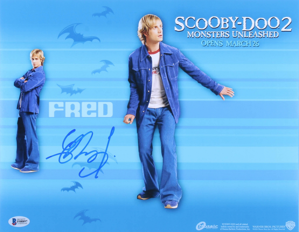 Freddie Prinze Jr Signed Scooby Doo 2 Monsters Unleashed 11x14 Photo Beckett Coa Pristine Auction
