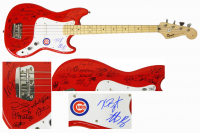 2016 Cubs World Series Champions Electric Bass Guitar Team-Signed by (25) with Kris Bryant, Anthony Rizzo, Ben Zobrist, Theo Epstein, Javier Baez (Schwartz Sports COA & Fanatics Hologram)