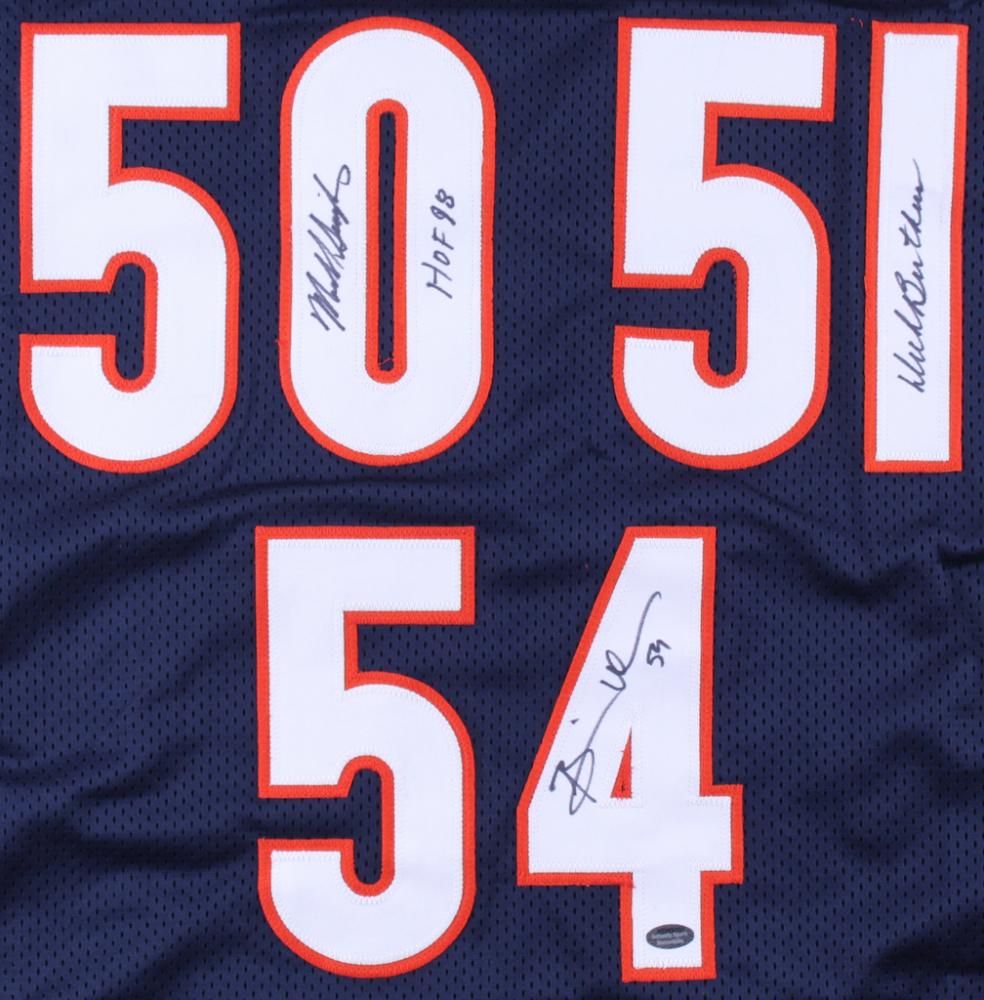 52c85818a7d Dick Butkus, Brian Urlacher & Mike Singletary Signed Bears