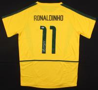 "Ronaldinho Signed Brazil Jersey Inscribed ""Rio"" (Beckett COA)"