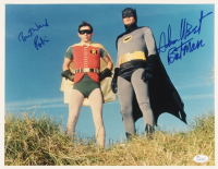 "Adam West & Burt Ward Signed ""Batman"" 11x14 Photo Inscribed ""Robin"" & ""Batman"" (JSA COA) at PristineAuction.com"