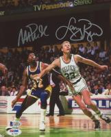 Larry Bird & Magic Johnson Signed 8x10 Photo (PSA COA & Beckett COA)