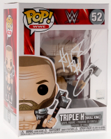 "Triple H Signed ""WWE"" Skull King #52 Funko Pop Vinyl Figure (Beckett COA)"