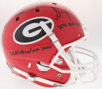 "Nick Chubb & Sony Michel Signed Georgia Bulldogs Full-Size Helmet Inscribed ""3638 Rush Yds"", ""4769 Rush Yards"" & NCAA Record Rush Yards"" (JSA COA) at PristineAuction.com"