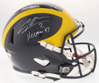 "Charles Woodson & Desmond Howard Signed Michigan Wolverines Full-Size Speed Helmet Inscribed ""Heisman '97"" & ""'91 Heisman"" (Radtke COA, Woodson Hologram & Howard Hologram)"
