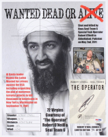 """Robert O'Neill Signed LE """"Bin Laden Wanted Dead or Alive"""" 11x14 Photo (PSA COA) at PristineAuction.com"""