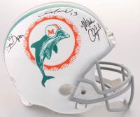 "Dan Marino, Mark Clayton & Mark ""Super"" Duper Signed Dolphins Full-Size Throwback Helmet (Radtke COA) at PristineAuction.com"