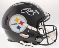 Le'Veon Bell & Antonio Brown Signed Steelers Full-Size On-Field Helmet (JSA COA) at PristineAuction.com
