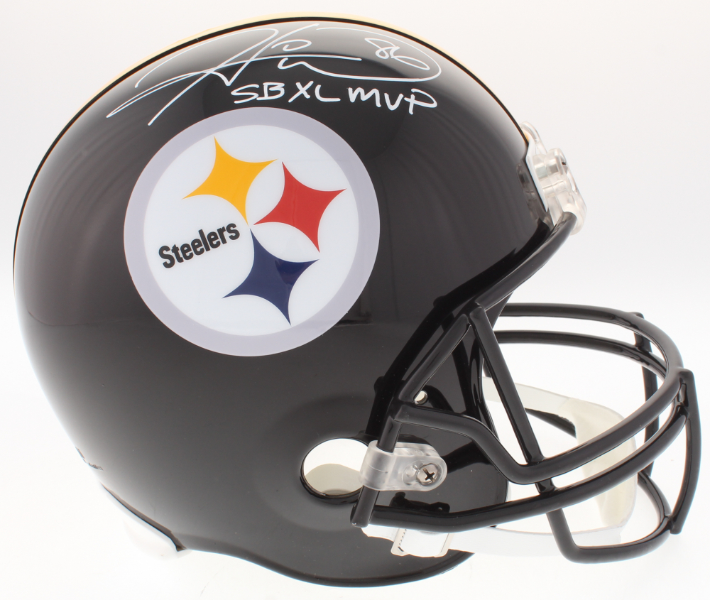 a4837093ee5 Hines Ward Signed Pittsburgh Steelers Full-Size Helmet Inscribed