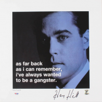 "Henry Hill Signed ""Goodfellas"" 16x16 Movie Poster Inscribed ""Goodfella"" (PSA COA & Hill Hologram)"