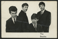 "Pete Best, George Harrison & John Lennon Signed ""The Beatles"" 3.5x5.5 Photo with (4) Inscriptions (PSA LOA)"