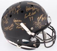 Custom Matte Black Full-Size Helmet Signed by (24) With Bo Jackson, Archie Griffin, Charlie Ward, Mark Ingram (Steiner LOA & COA)