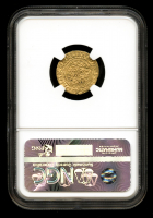 Henry V 1413-22 Great Britain - England Gold 1/4N Quarter Noble (1.70g) Medieval Gold Coin (NGC Genuine, VF Details) at PristineAuction.com