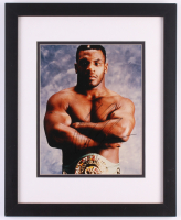 Mike Tyson Signed 12.5x15.75 Custom Framed Photo (Grandstand COA)