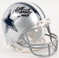 "Troy Aikman Signed Cowboys Mini-Helmet Inscribed ""SB XXVII MVP"" (Radtke COA & Aikman Hologram) at PristineAuction.com"