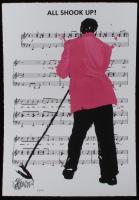 "Joe Petruccio Signed Elvis Presley ""All Shook Up"" Limited Edition 14x20 Fine Art Giclee on Paper #51/125 (Pop Culture Vault COA & PA LOA)"