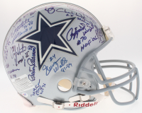 Dallas Cowboys Greats Full-Size Authentic On-Field Helmet Signed by (33) with Jimmy Johnson, Bob Lilly, Mel Renfro & Rayfield Wright (PSA LOA)